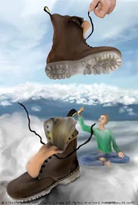 Spiritual Humor Waiting_shoe